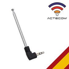 ACTECOM® Jack de 3,5 mm a FM antena de radio jack telefono movil retráctil