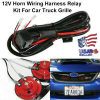 12V Horn Wiring Harness Relay Kit For Car Truck Grille Mount Blast Tone Horns US