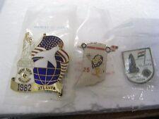 Lions Club Pins Lot 3 1982 Statue Liberty Atlanta Indiana India New NIP