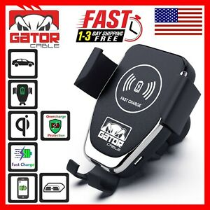 Qi Wireless Car Phone Charger Air Vent Mount Holder Quick Charge 10W Universal
