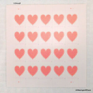 Love Made of Hearts forever sheet (20 stamps) MNH 2020 USPS US 5431      NEW