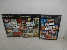 Grand Theft Auto Vice City,San Andreas And Auto III Playstation 2 (3 Games) USED