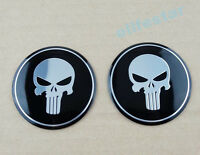 3D Skull Aluminum Fuel Gas Tank Fairing Punisher Emblem Decal Sticker Motorcycle