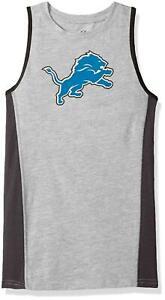 NFL Detroit Lions Boys Gray Fan Gear Tank Top Shirt Size M  (10-12) ~  NWT