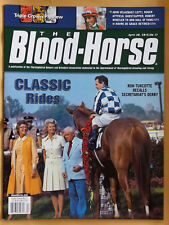 SECRETARIAT, PENNY TWEEDY ON COVER OF KENTUCKY DERBY BLOOD HORSE RACING MAGAZINE