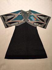 BNWT Karen Millen multicolour mini dress with silver thread UK size 10