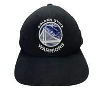 Golden State Warriors Hat Cap Mitchell & Ness NBA Black White Snapback CA Bay
