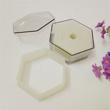 (9pcs/set) Flat Hexagon Nylon Plastic Biscuit Mold Fondant Cookies Cutter Mould