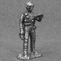 Helicopter Pilot USSR 1/32 scale Tin Metal Miniature Army Toy Soldiers 54mm