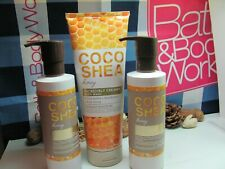 Bath and Body Works 3 ~ Coco Shea Honey ~ Seriously Soft Body Lotion & Body Wash