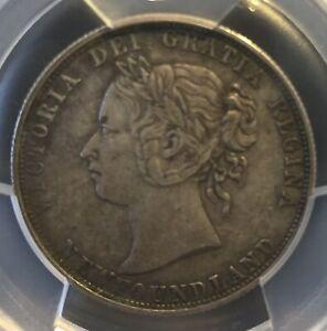 1885 Canada Newfoundland 50 Cents XF-40 PCGS- low Mintage 40,000.