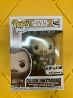 Funko Pop Star Wars quigon qui gon 422 Qui-Gon Jinn Tatooine Amazon Exclusive