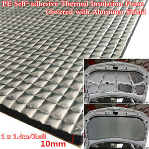 10mm Alumium Shield Car Firewall Sound Deadener Heat Insulat Noise Reduction Mat