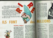 ARTICLE SUR LA BANDE DESSINEE 1963 4 PAGES /asterix tintin lucky luke clipping