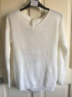 BNWT Primark Knitted Jumper. White. Womans. Size S to L. Open Back