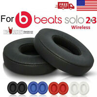 2pc Replacement Ear Pads Cushion For Beats by Dr Dre Solo 2 Solo 3 Wireless Blac