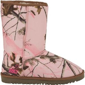 Realtree Girl Pink Camouflage Ladies Mukluk Boots - Licensed Camo Carson
