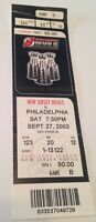 NJ Devils vs Philadelphia Flyers Ticket Stub. Stanley Cup Image. 9/27/2003.