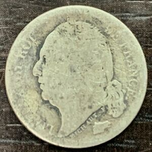 LOUIS XVIII - 1/2 FRANC 1816 B ROUEN