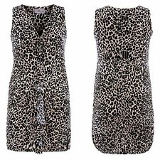 Simply Be Size 14  Animal Print Twist Front Frill DRESS Party  Gorgeous £40