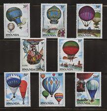 Balloons Historic Flights mnh 8 stamps 1984 Rwanda #1183-90