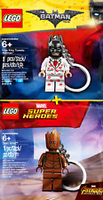 LEGO Keychains #5005244 + #5004928 - Kiss Kiss Batman Tuxedo + Groot - Collector