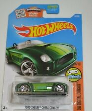 2016 HOT WHEELS HW DIGITAL CIRCUIT 4/10 FORD SHELBY COBRA CONCEPT GREEN