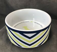 "Jonathan Adler ""Arcade"" Ceramic Dog Water Food Pet Bowl! Hungry Hound MCM Chic!"