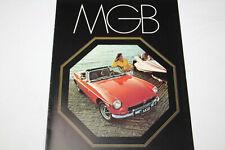 MG MGB Prospekt Broschüre / Brochure Englisch 1972