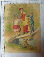 XLG HARD TO FIND VICT TRADE CARD; HYDE PARK CLOTHING CO LADY BOY GIRL CROSS 2157