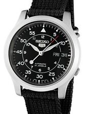 ☀ SEIKO 5 SNK809K2 Automatic Military Black Nylon Strap Analog Men's Watch Japan