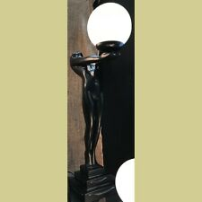 CLARTE OUTSTRETCHED LADY 70CM SATIN BLACK - ART DECO STYLE TABLE LAMP LIGHT NEW