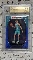Lamelo Ball 2020-21 NBA Hoops Blue Foil Parallel SP Rookie Hornets BGS 9.5 PSA