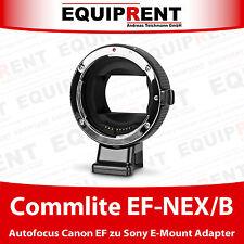 Commlite CoMix CM-EF-NEX /B Canon EF/EF-S zu Sony E-Mount Adapter mit AF (EQH81)