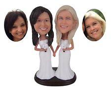 Semi Custom Lesbian Wedding Cake Toppers Gay Figurines Homosexual Bobblehead