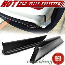 Painted MERCEDES BENZ W117 Sedan Rear Side Bumper Lip Splitter 2014-2017 CLA220