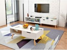 130 - 178 cm Adjustable TV Stand Entertainment Unit Cabinet and Coffee Tables