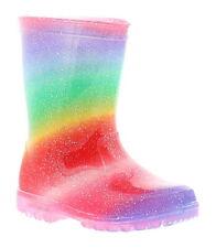 Princess Stardust Rain Girls Kids Wellies Wellington Boots Multi UK Size