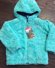 NWT North Face Toddler Girls' Mossbud Swirl Reversible Blue Butterfly Jacket 2T