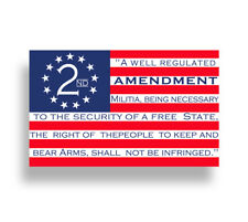 USA American 2nd Amendment Sticker Cup Car Window Bumper Gun Flag Vehicle Decal