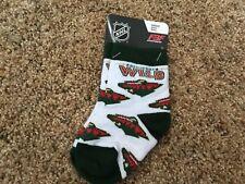 NHL Minnesota Wild For Bare Feet Infant Socks Size 0-3 BNWTS