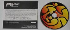Lemon Jelly - '64-'95  - original 2005 U.S. promo cd