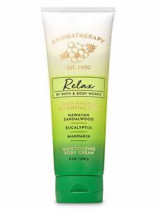 Bath & Body Works Aromatherapy RELAX Hawaiian Sandalwood Body Cream 8oz New