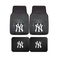 New York Yankees MLB 2pc and 4pc Mat Sets - Heavy Duty-Cars, Trucks, SUVs