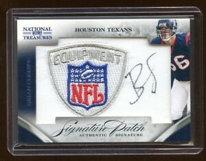 2009 TREASURES BRIAN CUSHING RC AUTO /35 *NFL* PATCH LOGO MINT AUTOGRAPH HOT RC