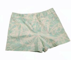 "Ann Taylor Loft Riviera Short Tropical Floral Nwt Size 6 4"" Inseam Seafoam Green"