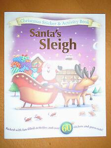 Santa's Sleigh - Christmas Sticker Activity Book - Brand New RRP £4.99