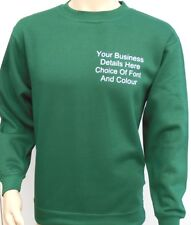 New Custom Printed Text Personalised SWEATSHIRT Jumper Work Wear Sweat Shirt
