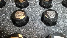 OEM Jaguar growler etched PVD black lug nuts #C2D20073