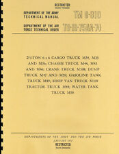 TM9 819 ~ 2.5 Ton 6x6 Cargo Truck ~ M34/ M35 ~ Maint Manual ~ 1952 ~ Reprnt